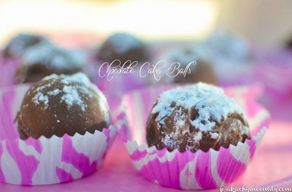 chocolate cake balls recipe